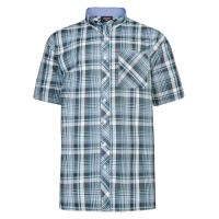 Espionage SH263B Navy/Red/Tan Short Sleeve Check Shirt
