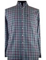Grey, Navy, Red check long sleeve shirt