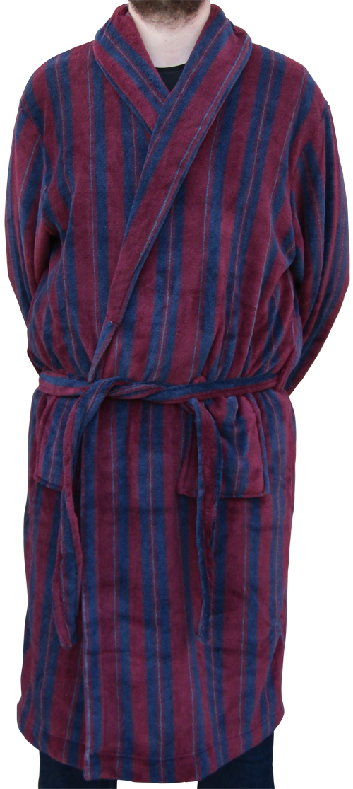 Buy Espionage PJ098 Stripe Dressing Gown At Big Clobber | Big and ...